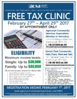 2017 Tax Clinic – English Flyer