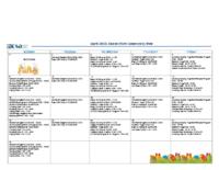 April 2018 Calendar Hub